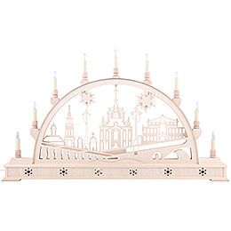 Candle Arch - Church of Dresden with Base - 78x45 cm / 31x18 inch