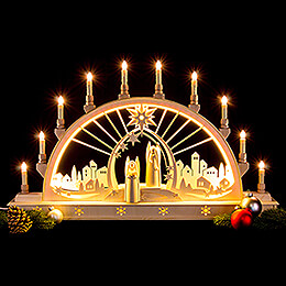 Candle Arch - Angel with LED Interior Lights - 78x45 cm / 30x17 inch