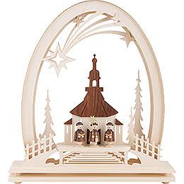 Seidel Arch Seiffen Church with Carolers - 31x33 cm / 12.2x13 inch