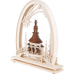 Seidelbogen Seiffener Kirche mit Kurrende - 31x33 cm