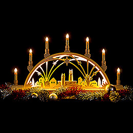 Candle Arch - Angels - with Base - 63x35 cm / 24.8x13.8 inch