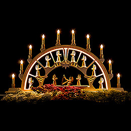 Candle Arch - Orchestra of Angels - 78x45 cm / 30.7x17.7 inch