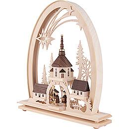 Seidel Arch Seiffen Church - 31x33 cm / 12.2x13 inch