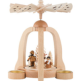 1-Tier Pyramid - Winter Children - 22 cm / 9 inch