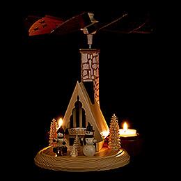 1-Tier Smoking Pyramid - Ski Lodge - 26 cm / 10 inch