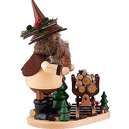 Räuchermännchen Erzwichtel mit Holzlore - 26 cm