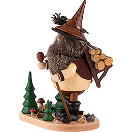 Smoker - Forest Gnome with Wood Pannier - 26 cm / 10.2 inch