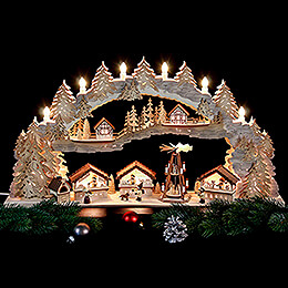 Candle Arch - Christmas Market - 72x43x13 cm / 28x16x5 inch