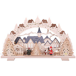 Schwibbogen Adventszeit exklusiv - 53x31x4,5 cm