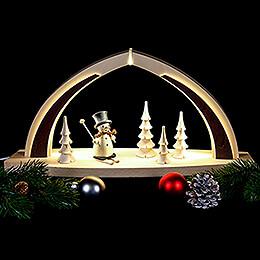 Candle Arch - modern wood - Snowman - 41x20x9,5 cm / 16x8x3.7 inch