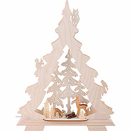 Light Triangle - Forest Scenery - 32x42x7,5 cm / 12.6x16.5x3 inch