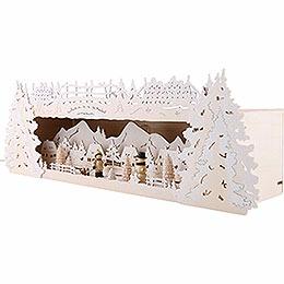 Schwibbogenerhöhung für Lichterspitze Winterspitze verschneit - 54x17x15 cm