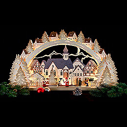 Schwibbogen Adventszeit exclusiv - 72x41x7 cm