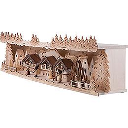 Schwibbogenerhöhung Weihnachtsmarkt - 75x20x15 cm
