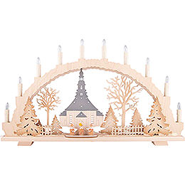 Candle Arch - Seiffen Church - 70x42 cm / 27.6x16.5 inch