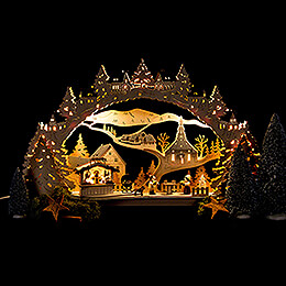 Candle Arch - Barbecue Lodge - 53x31 cm / 20.9x12.2 inch