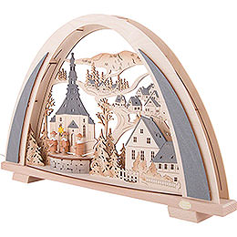 Candle Arch - NEW LINE - Seiffen - 53x31 cm / 20.9x12.2 inch