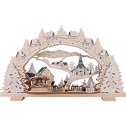 Candle Arch - Barbecue Lodge with Snow - 53x31 cm / 20.9x12.2 inch