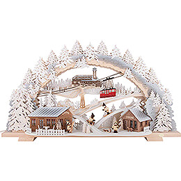 Candle Arch - Fichtelberg Idyll with Snow - 72x43 cm / 28.3x16.9 inch