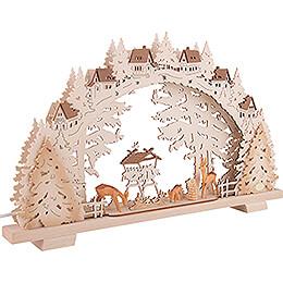 Candle Arch - Deer Feeding - 53x31 cm / 20.9x12.2 inch