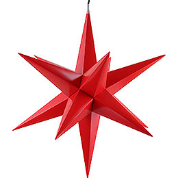 Hasslau Christmas Star - Red and Lighting - 75 cm / 30 inch -  Inside/Outside Use