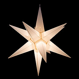 Hasslau Christmas Star - White and Lighting - 75 cm / 30 inch -  Inside/Outside Use