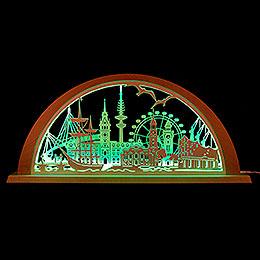 Stadtlicht Hamburg - 69x32 cm