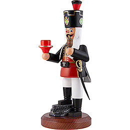 Smoker - Miner with Candle Holder - 22 cm / 8.7 inch