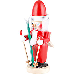 Nussknacker Chubby Santa auf Ski - 32 cm