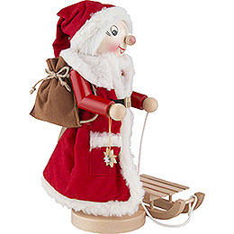 Nussknacker Mrs. Santa mit Schlitten - 36,5 cm