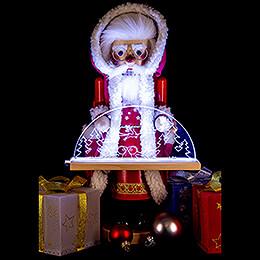 Nussknacker Deutscher Weihnachtsmann mit Schwibbogen - 44 cm