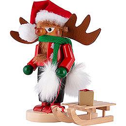 Nussknacker Chubby Rudolph mit Schlitten - 27 cm