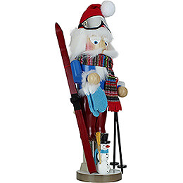 Nussknacker Weihnachtsmann Skifahrer - 46 cm
