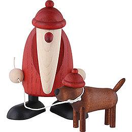 Santa Claus with Dachshound Waldemar - 9 cm / 3.5 inch