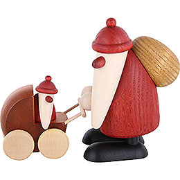 Santa Claus with Stroller - 9 cm / 3.5 inch