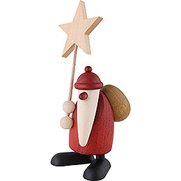 Santa Claus with Star - 9 cm / 3.5 inch