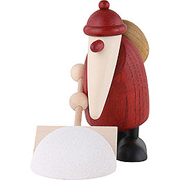 Santa Claus with Snow Shovel - 9 cm / 3.5 inch