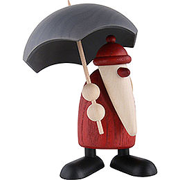 Santa Claus with Umbrella - 12 cm / 4.7 inch