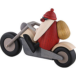 Santa Claus on Motorcycle - 11 cm / 4.3 inch