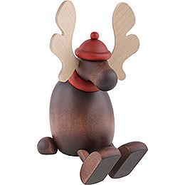 Moose Olaf Sitting on a Shelf - 15 cm / 5.9 inch