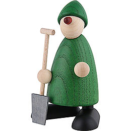 Well-Wisher Hans with Spade, Green - 9 cm / 3.5 inch