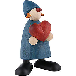 Well-Wisher Thea with Heart, Blue - 9 cm / 3.5 inch