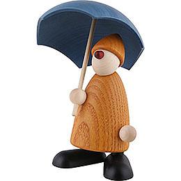 Gratulant Charlie mit Schirm, gelb - 9 cm