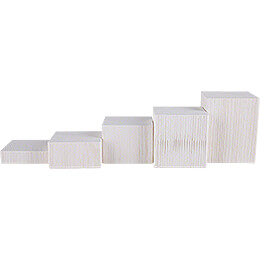 Wooden Block Set - 5 pieces - White - 12 cm / 4.7 inch