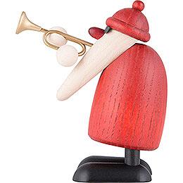 Santa Claus with Trumpet - 9 cm / 3.5 inch
