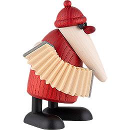 Santa Claus with Accordion - 9 cm / 3.5 inch