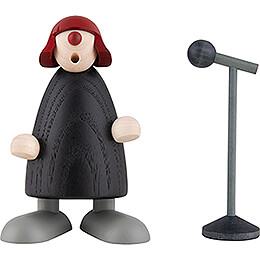 Frollein S. at the Microphone - 9 cm / 3.5 inch