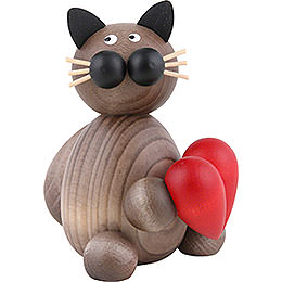 Cat Karli with Heart - 8 cm / 3.1 inch