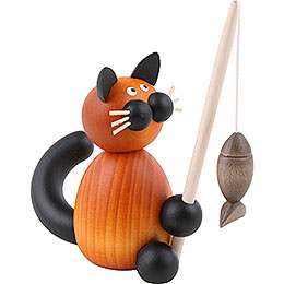 Cat Bommel with Fish - 8 cm / 3.1 inch
