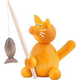 Cat Emmi with Fish - 8 cm / 3.1 inch